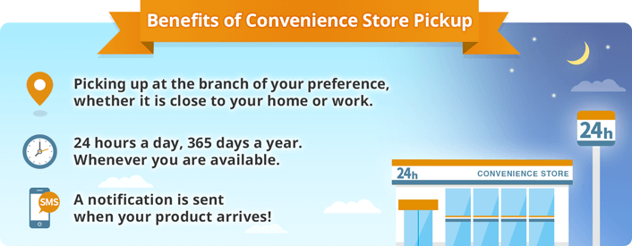 Benefits of Convenience Store Pickup