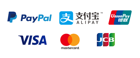 Paying with Credit Card, PayPal, Alipay!